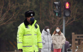 A Beijing street during the coronavirus outbreak.