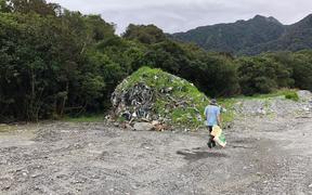 Fox Glacier guide Kelsey Porter says more rubbish has been exposed following a recent rainfal.
