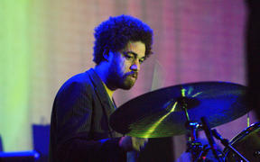 Danger Mouse (Brian Burton) playing with Broken Bells in 2010
