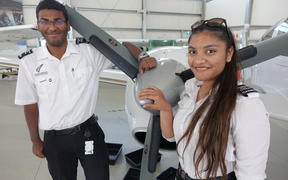Shayan Chakraborty, 22, of Bangalore and Mitika Agrawal, 19, are both learning at the pilot academy in Whanganui.