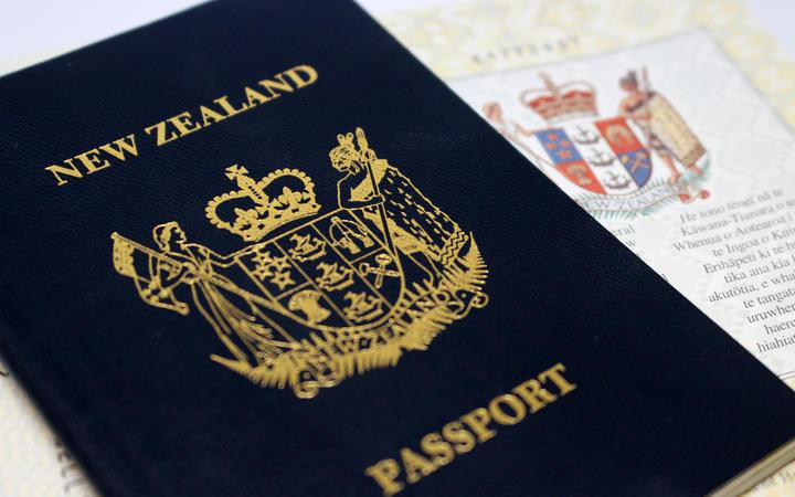 New Zealand passport.