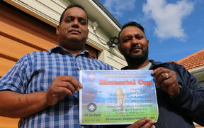 Azam Ali and Shiraz Ali are expecting a fierce competition at a football tournament to mark the one year anniversary since the Christchurch mosque shootings.