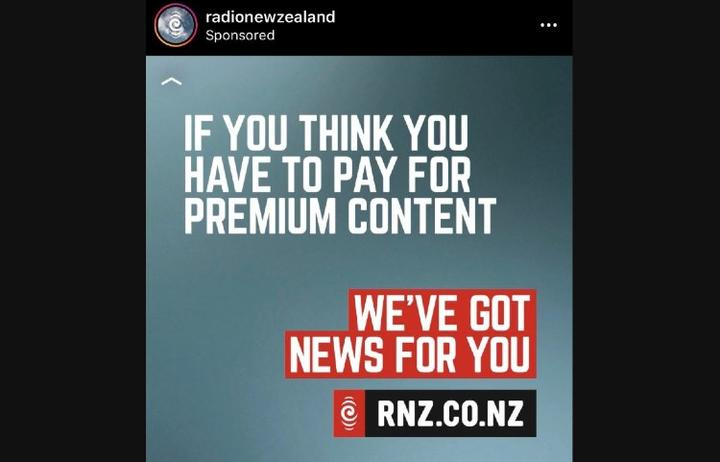 Sponsored RNZ ad circulating on social media