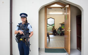 Police protection at Al-Noor mosque continued for several months after the March attacks.