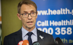 Dr Ashley Bloomfield, Director General of Health, addresses media about the NZ Covid-19 cases