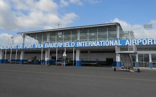 Vanuatu's main international airport Bauerfield at Port Vila