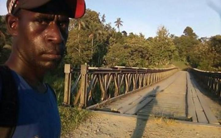 Joseph Monty who has been walking across Bougainville to raise funding for Arawa hospital