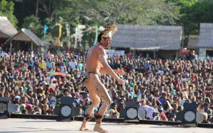 A performer at the Festival of Pacific Arts, 2012.
