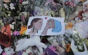 Mourners lay flowers and left artwork outside Al Noor mosque the days after the attack
