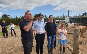 Jacinda Ardern hearing from workers in Northland where the drought has hit hard.
