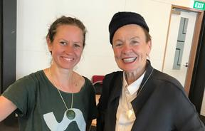 Kirsten Johnstone with Laurie Anderson