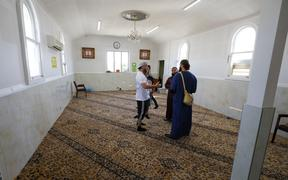 Muslims at Linwood Mosque.