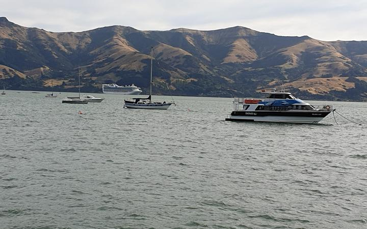 The Golden Princess is now on its way to Melbourne after docking in Akaroa.