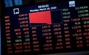 Trading on Wall Street was halted immediately after the opening bell, as stocks posted steep losses following emergency moves by the Federal Reserve to try to avert a recession due to the coronavirus pandemic.
