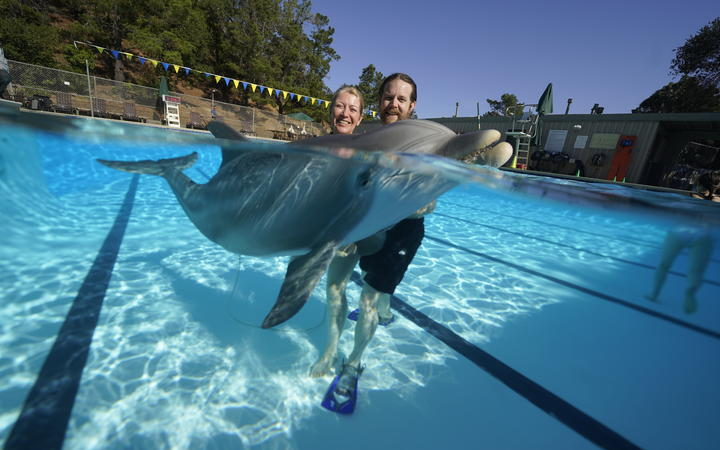 Melanie Langlotz has helped build a life-sized robot dolphin that looks and swims just like a real bottlenose.
