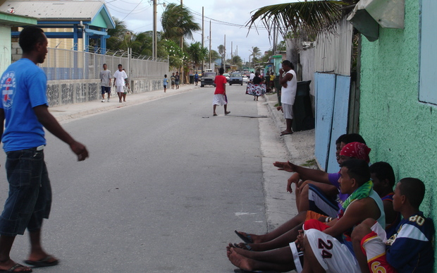 Young people on Ebeye