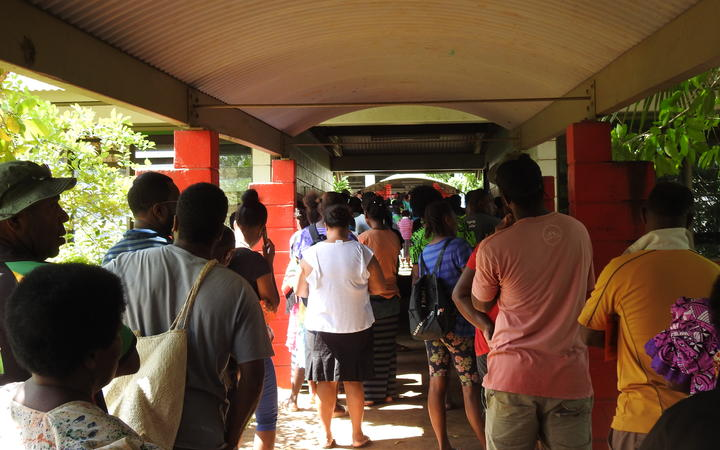 People line up in Vanuatu to cast their vote
