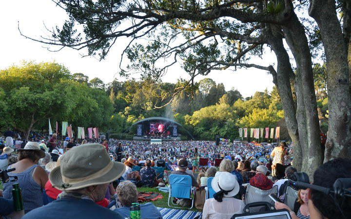 The crowd at the Bowl Stage, WOMAD 2020