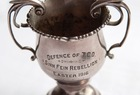The cup presented to Corporal Alexander Don for his part in defending Trinity College, Dublin in 1916.