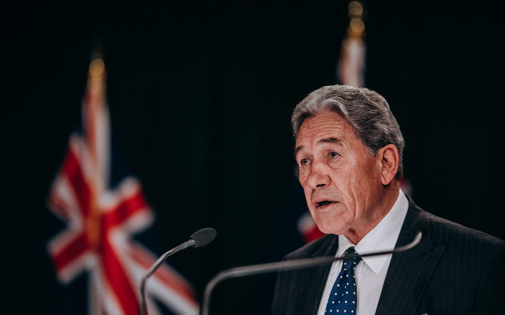 Winston Peters announcing the $12.1 billion economic relief package.