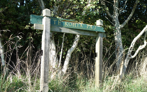 A tattered sign on an empty lot is the only acknowledgement that Te Kohia pā is where the first shots were fired in the Taranaki Wars.