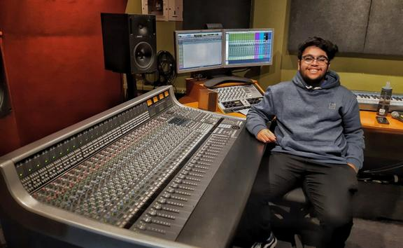 Chaitanya Rajapurkar in the Khan's Mumbai studio