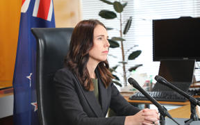Prime Minister Jacinda Ardern addresses the nation over the coronavirus threat on March 21.