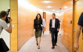 Prime Minister Jacinda Ardern and Director General of Health David Bloomfield.