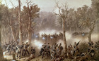 Battle of Gate Pah, April 27, 1864, when British under General Cameron attacked Maori stockade.