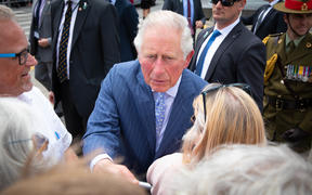 Royal Tour event at Viaduct Harbour Tues 19th November 2019.  Prince Charles and Duchess of Cornwall did a walkabout to meet the people ending at Emirates Team New Zealand.