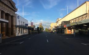 Masterton on the morning of 26 March, on the first day of the nationwide Covid-19 lockdown.