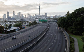 Auckland on the morning of 26 March, on the first day of the nationwide Covid-19 lockdown.