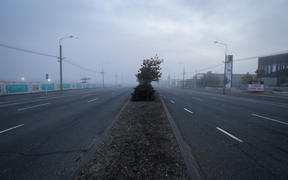 Bealey Ave, Christchurch on the morning of 26 March, on the first day of the nationwide Covid-19 lockdown.