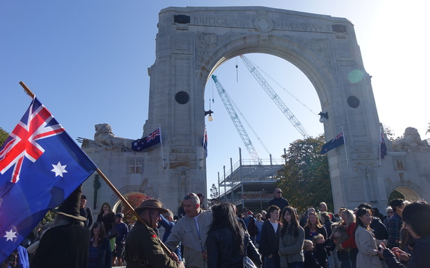 Christchurch's Bridge of Remembrance was rededicated on Anzac Day 2016.