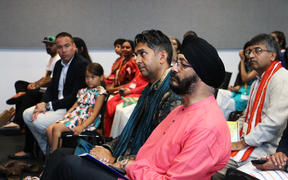Kawaljit Singh Bakshi, a National list MP based in Manukau East, in the audience at a conference hosted by Hindu Youth New Zealand and New Zealand Hindu Students Forum.