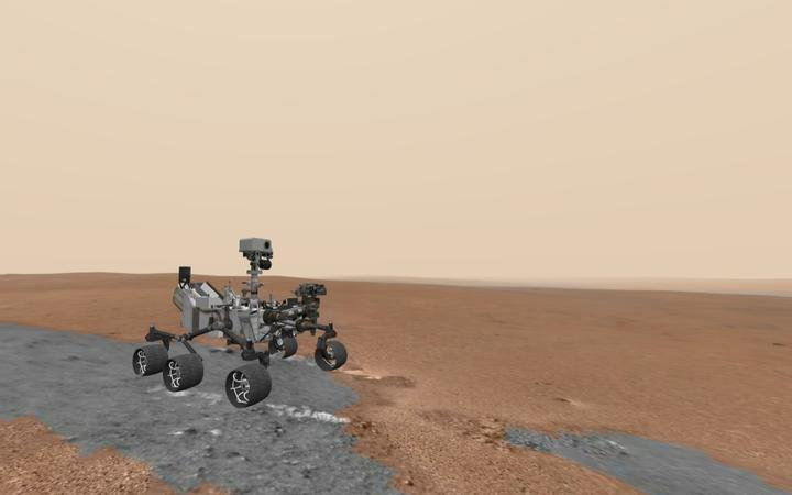 Search for Mars on the Curiosity rover