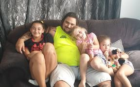 (From left) Harley Pomeroy with his daughters Jasmine, Rhyana and Amber-Rose.