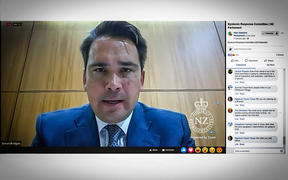 Screenshot of Simon Bridges chairing the Epidemic Response Committee