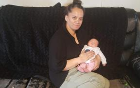 Carolyn Hautapu gave birth to Oriwia at Palmerston North Hospital under lockdown with no whānau support.