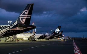 Air New Zealand planes parked up at Auckland Airport during the Covid-19 pandemic.