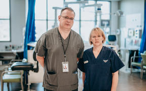 Hutt Hospital ICU director Andrew Stapleton and clinical nurse manager Susan Cartmell.
