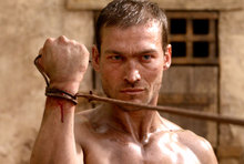 Andy Whitfield in Spartacus.