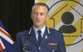 Police Commissioner Mike Bush providing an update on NZ's Covid-19 response.