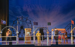 A scene from Cosi fan tutte at The Met