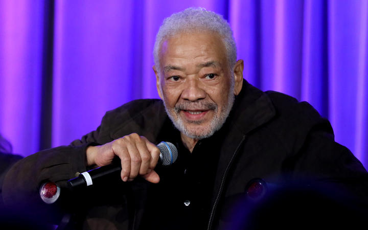 Bill Withers speaks onstage at Reel To Reel.
