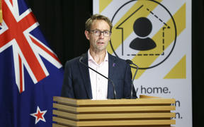Director-General of Health Dr Ashley Bloomfield speaks to media during a press conference at Parliament on 5 April 2020. New Zealand was placed in complete lockdown and a state of national emergency was declared on Thursday 26 March to stop the spread of COVID-19 across the country.