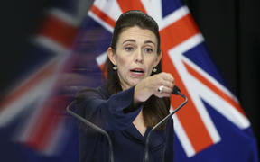 Prime Minister Jacinda Ardern speaks to media during a press conference at Parliament on April 05, 2020. New Zealand was placed in complete lockdown and a state of national emergency was declared on Thursday 26 March to stop the spread of COVID-19 across the country.