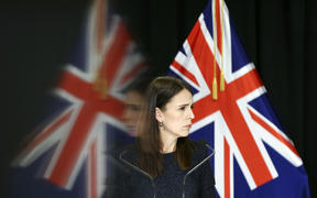 Prime Minister Jacinda Ardern speaks to media during a press conference at Parliament on March 31, 2020 in Wellington, New Zealand.