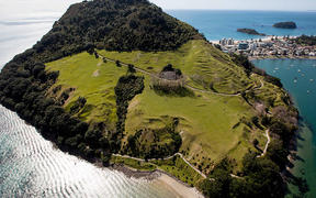 Mauao is around 232 metres high, last year counters that track walkers around its base and up the summit,  has clicked over one millon times.