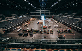 Auckland's Spark Arena has become a food distribution centre under Covid-19 lockdown.